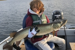 Cole Morrison, age 10, of Markham, ON, 46-incher (personal best), Pigeon Lake, ON.
